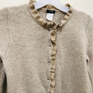 J Crew Cardigan S Cream with 8 Swarovski Buttons